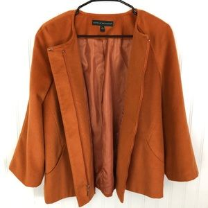 Harve Benard size Large burnt orange zip up jacket